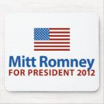 Mitt Romney American Flag Mousepad