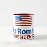 Mitt Romney American Flag Mug