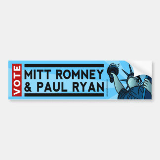 Mitt Romney and Paul Ryan Liberty Bumper Sticker