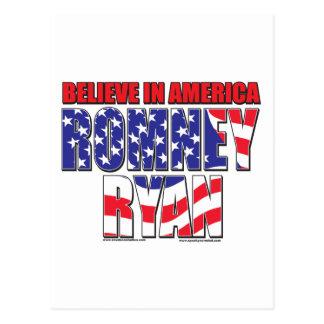 Mitt Romney and Paul Ryan Postcard