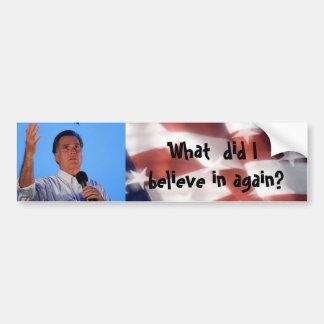 Mitt Romney anti Pegatina De Parachoque
