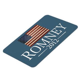 Mitt Romney - bandera de los E.E.U.U. Imanes Rectangulares