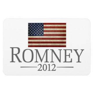 Mitt Romney - bandera de los E.E.U.U. Imán Foto Rectangular