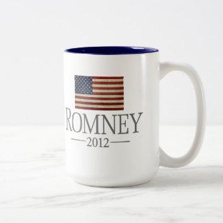 Mitt Romney - bandera de los E.E.U.U. Tazas