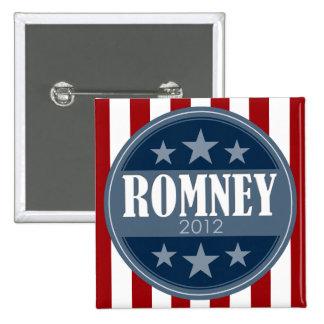 Mitt Romney - barras y estrellas retras Pin