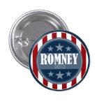 Mitt Romney - barras y estrellas retras Pin Redondo 2,5 Cm