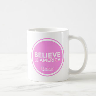 Mitt Romney Believe In America 2012 (Light Pink) Coffee Mug