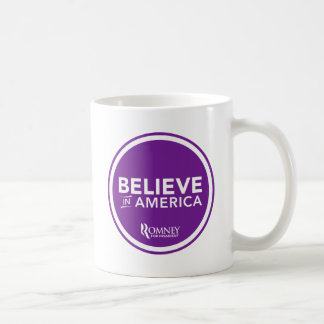 Mitt Romney Believe In America 2012 (Purple) Coffee Mug