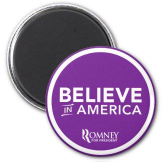 Mitt Romney Believe In America 2012 (Purple) Magnet