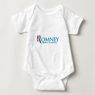 Mitt Romney Believe in America Apparel Baby Bodysuit