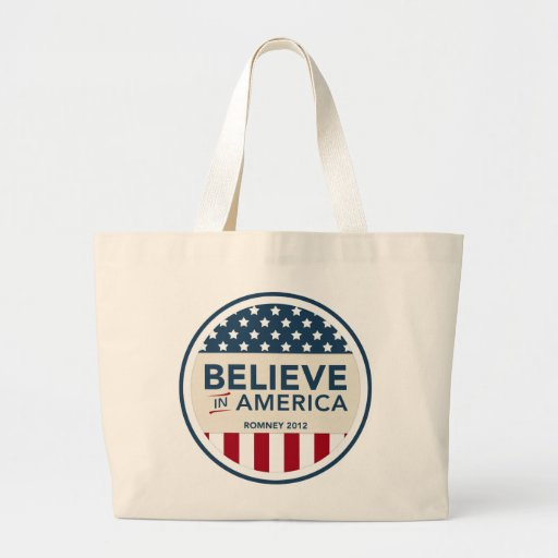 Mitt Romney Believe In America Flag 2012 Bags
