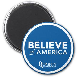 Mitt Romney Believe In America Logo (Blue) Magnet