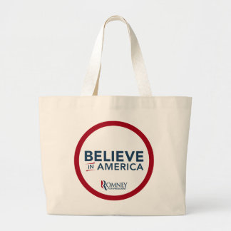Mitt Romney Believe In America (Red and White) Canvas Bag