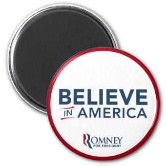 Mitt Romney Believe In America (Red and White) Magnet
