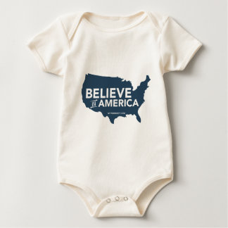 Mitt Romney Believe In America USA Map (Blue) Baby Bodysuit