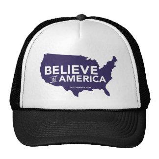 Mitt Romney Believe In America USA Map Purple Trucker Hat