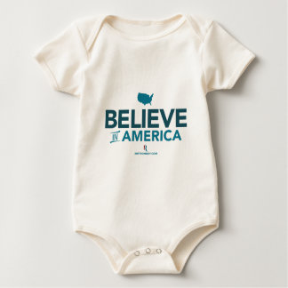 Mitt Romney Believe In America With USA 2012 Baby Bodysuit