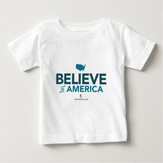 Mitt Romney Believe In America With USA 2012 Baby T-Shirt