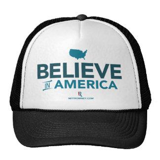 Mitt Romney Believe In America With USA 2012 Hat