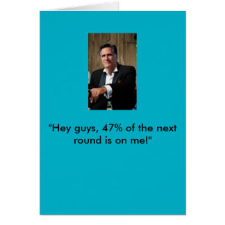 Mitt Romney Birthday Card