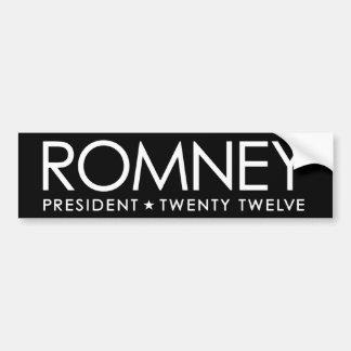 Mitt Romney - blanco y negro Pegatina De Parachoque