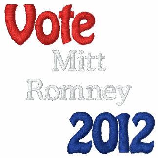 Mitt Romney bordó las chaquetas Sudadera Bordada Con Capucha