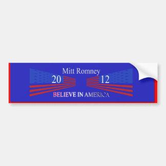 Mitt Romney Bumper Sticker Car Bumper Sticker