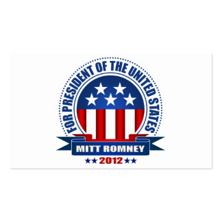 Mitt Romney Business Cards