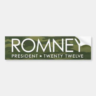 Mitt Romney - camo Etiqueta De Parachoque