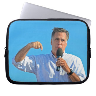 Mitt Romney campaigning Computer Sleeve