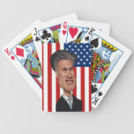 Mitt Romney Caricature USA Bicycle Poker Cards