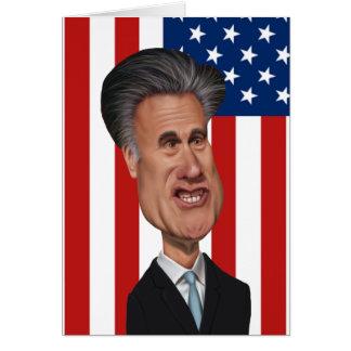 Mitt Romney Caricature USA Card