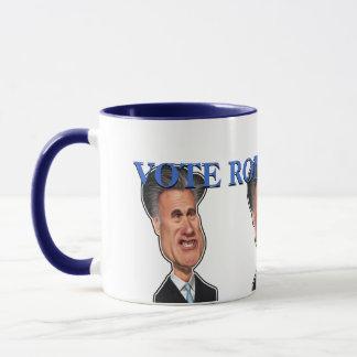 "Mitt Romney Caricature ""Vote Romney 2012"" Mug"