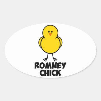 Mitt Romney Chick Oval Sticker