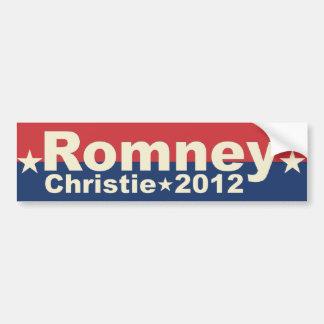 Mitt Romney Chris Christie - President VP 2012 Bumper Sticker