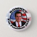 Mitt Romney Circle Frame Photo Pinback Button