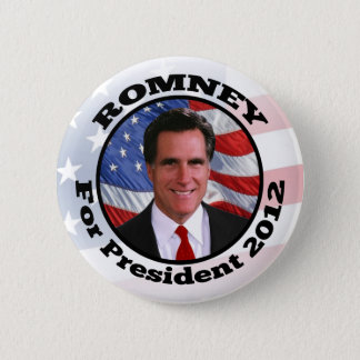 Mitt Romney Circle Frame Photo Pinback Button