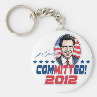 Mitt Romney ComMITTed 2012 Gear Keychain