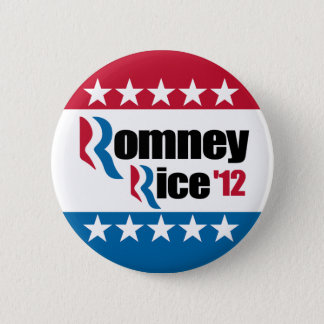 Mitt Romney Condi Rice 2012 Pinback Button