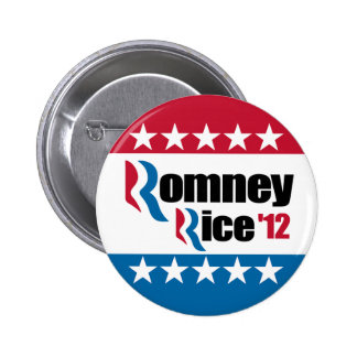 Mitt Romney Condi Rice 2012 Pinback Button