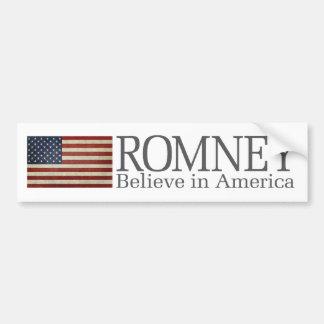 Mitt Romney - crea en América Etiqueta De Parachoque