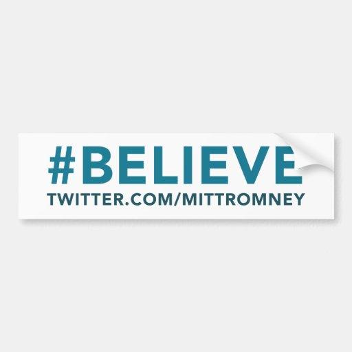 Mitt Romney cree el gorjeo 2012 de Hashtag Etiqueta De Parachoque