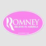 Mitt Romney cree en América (el pegatina oval