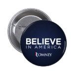 Mitt Romney cree en el botón de América Pins