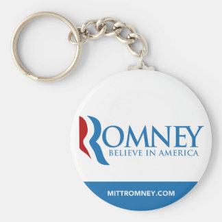 Mitt Romney cree en el logotipo de América con el  Llavero Redondo Tipo Pin