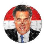 Mitt Romney Dartboard With Darts