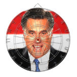 Mitt Romney Dartboard With Darts