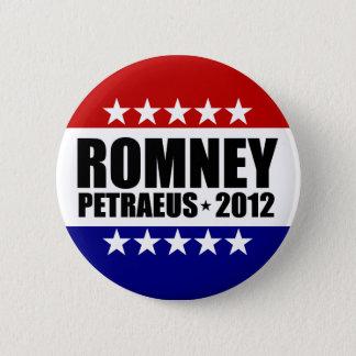 Mitt Romney David Petraeus 2012 Button