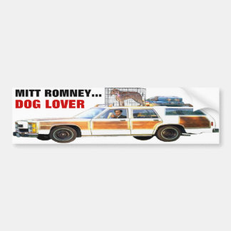 MITT ROMNEY... DOG LOVER BUMPER STICKER