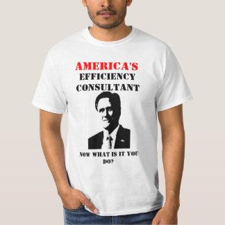 Mitt Romney Efficiency Consultant T-Shirt